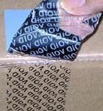 供应用于手机盒封口贴|医药封口贴|化妆品封口贴的揭开留字VOID标签VOID材料