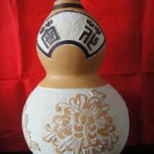 供应牡丹雕刻葫芦工艺品