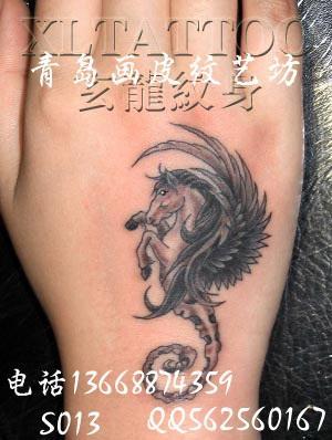 教学手背纹身图片