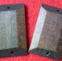 供应长方形木块饰品配件