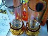 蜡烛玻璃杯子透明塑料杯子图片