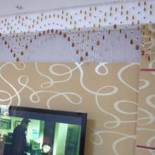 供应批发南昌水晶珠帘墙纸背景墙