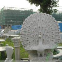 孔雀东南飞 孔雀开屏 石雕孔雀雕刻工艺品 龙年好运摆件