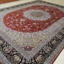 波斯纹样手工丝绸地毯图片