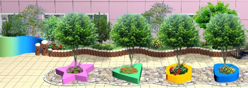 青岛幼儿园景观设计图片