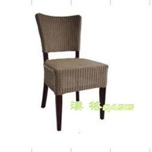 实木家具半布皮面实木餐椅图片
