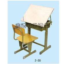 供应广东美术升降课桌椅