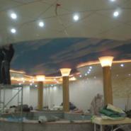 供应安徽省软膜天花室内吊顶透光膜喷绘膜灯箱膜
