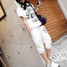 特价大码套装风靡韩国休闲装大码短袖休闲套装大码运动套装