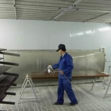 供应环保喷漆房无尘烤漆水帘喷漆房