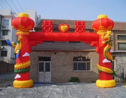 供应南阳龙凤彩虹门厂家南阳永鑫气模