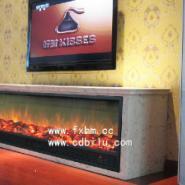 成都奥林匹克花园定制电视柜电壁炉图片