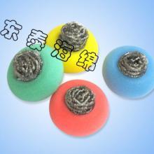 供应双重清洁钢丝球海绵擦钢丝球海绵擦