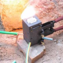 供应铜包钢热熔圆接头价格,铜包钢热熔焊接,铜包钢放热焊接