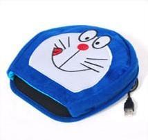 供应USB暖手鼠标垫卡通机器猫批发