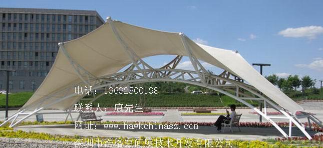 膜结构遮阳广场