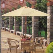 供应仿藤桌椅/中柱木伞/太阳伞/户外桌椅/休闲户外太阳伞/户外家具