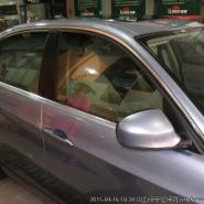 宝马320贴龙膜玻璃窗贴膜效果图片