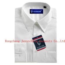 长袖男式白色正装衬衫/成衣水洗