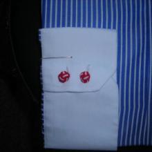 供应白领蓝条纹时尚男式衬衫