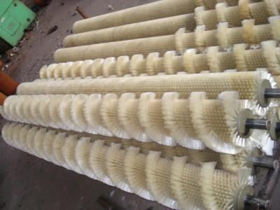 供应山东机械配套刷辊工业小刷辊销售尼龙辊刷供应