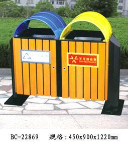 供应昆明环卫钢木垃圾桶