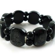 供应黑色玛瑙手链手镯观音手链玉石手链