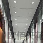 办公室2.0mm白色喷粉铝单板图片