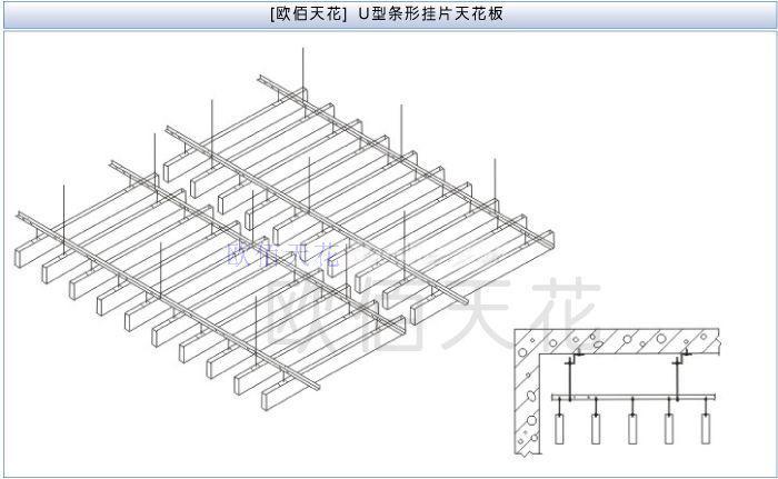 重庆铝方通吊顶批发,铝合金方通图,造型铝方通吊顶