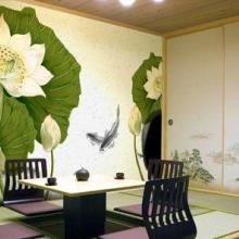 供应南昌背景墙彩绘手绘墙画制作!图片