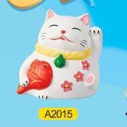 招财猫陶瓷画彩绘陶瓷DIY玩具图片