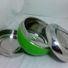 供应不锈钢苹果型QQ饭盒,彩盒包装,送礼礼品批发