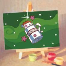 供应特价促销DIY数字油画卡通礼物带画架可批发水瓶座1015批发