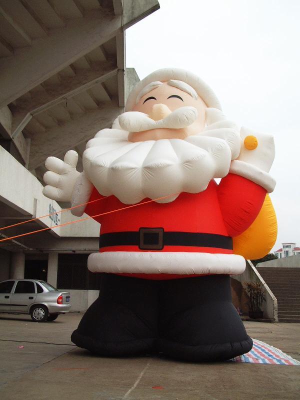 供应充气圣诞老人,充气仿真卡通气模制作,