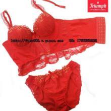 供应V9121黛安芬火凤凰系列马甲(塑身衣)套装内衣(红色)批发