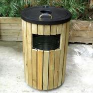 防腐木垃圾桶批量生产厂家图片
