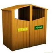 湖南防腐木垃圾桶图片