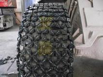 供应钢厂专用铲车轮胎防护链(加密型)批发