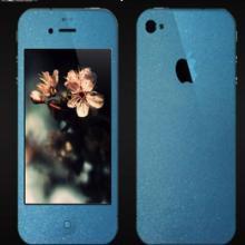 供应iphone彩贴磨砂高透夜光膜批发