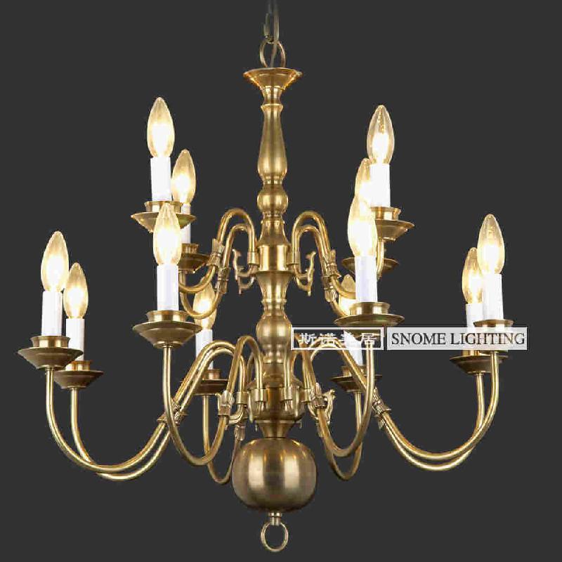供应欧式全铜灯具批发 家装客厅灯饰 酒吧灯饰工程图片