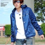 2011新款韩版可脱卸帽时尚棉衣图片
