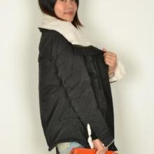 外套女毛领短款风衣女装韩版外套女呢女式长袖t恤