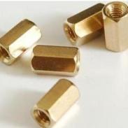 六角平牙环保黄铜铜柱图片