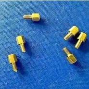 六角连牙环保黄铜铜柱图片