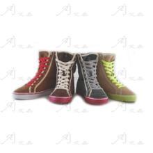 供应幻彩运动高筒硫化靴