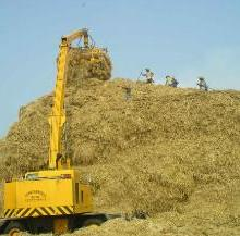 供应造纸行业效率最高麦草卸车堆高设备图片