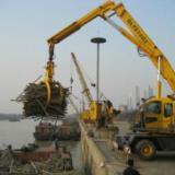 供应港口码头移动轮胎式抓吊卸船抓斗吊