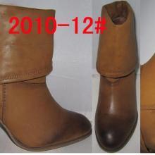 供应外贸库存擦色低筒粗跟高跟女棉靴