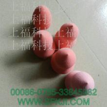 供应江苏厂家直销葫芦形化妆棉红色粉扑