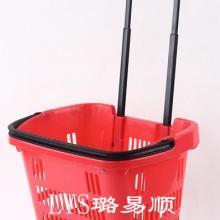 供应超市折叠提菜篮拉杆式购菜篮